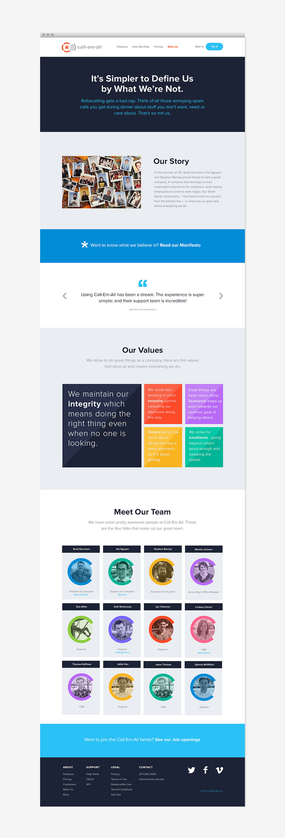 call-em-all website by motto